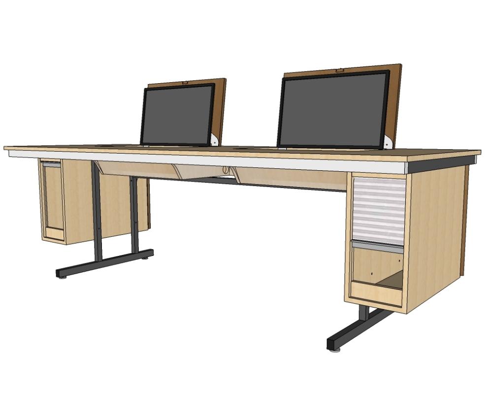 VARIOTABLE ist eine kompakte und vielseitige Lösung für jeden Klassenraum.