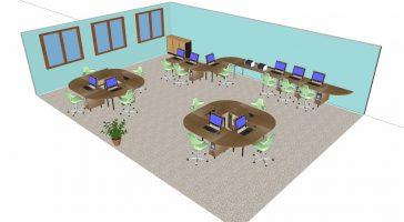 Multimediaraum / Medienkabinett 12 Plätze