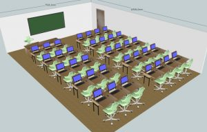 Klassenraum 35 Plätze + 1 Lehrerplatz